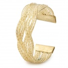 Fashion Cross Alloy Plating Bracelet for Women - Golden