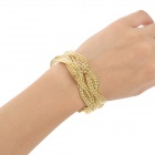 Mode Cross legering Plating armband för kvinnor - Golden