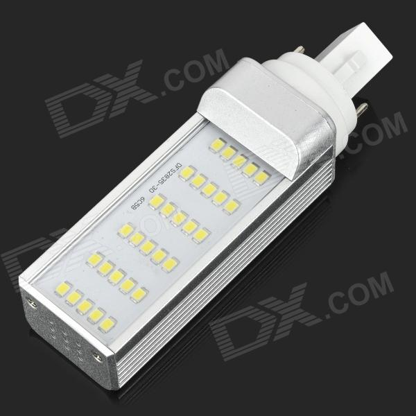 2825-CW-30 G24 6W 450lm 6500K 180 Degree Rotatable 30-LED 2835  White light Bulb - Silver + White