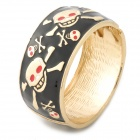 Cool 3D Skull Pattern Zinc Alloy Bracelet for Women - Black + Golden