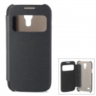 Stylish Flip-Open PU Leather Case for Samsung S4 Mini - Black