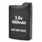 "3.6V ""3600mAh"" Li-ion Battery for PSP 1000 - musta"