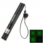 LZZ-RZ8T303 5mW 532nm Green Laser 8-Mode Starry Pointer - Black (1 x 18650)