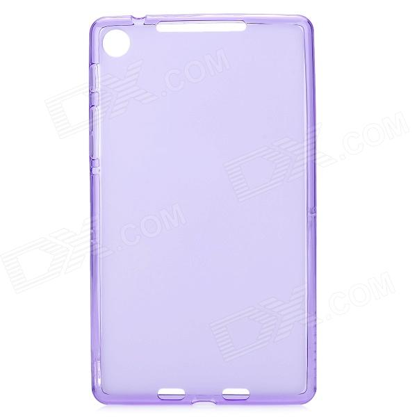 Protective TPU Back Case for Google Nexus 7 II - Translucent Purple цена 2017