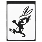 "Rabbit Style Decoration Sticker for Macbook 11"" / 13"" / 15"" / 17"" - Black"