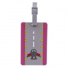 Airport Style Luggage Tag - Grey + Purple