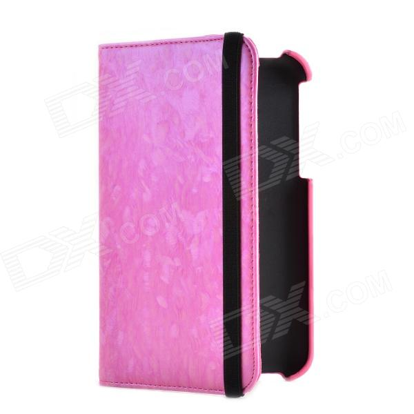 Colored 360 Degree Rotating Protective Case for Samsung Tab3.0 P3200 - Pearly Pink