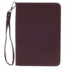 Stylish Lichee Pattern Protective PU Leather Case Cover Stand for Ipad MINI - Brown