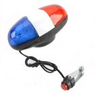 ET-228 4-Sound 6-Flashing 6-LED Safety Light - Red + White + Blue (2 x AA)