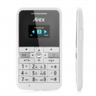 "AIEX MINI-V9 GSM Card Phone w/ 1.0"" Screen, Quad-Band, Bluetooth and FM - White"