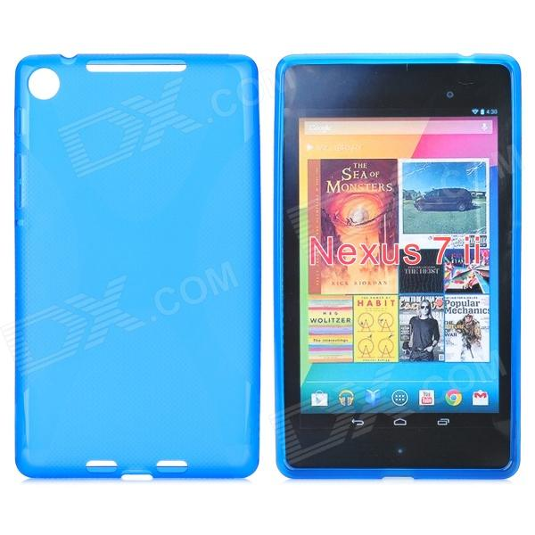 Protective TPU Back Case for Google Nexus 7 II - Translucent Blue цена 2017