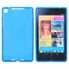 Protective TPU Back Case for Google Nexus 7 II - Translucent Blue