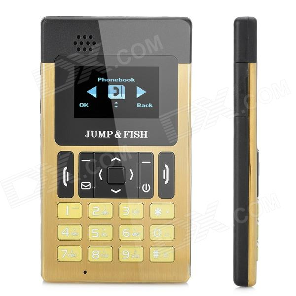 "JUMP & Fisch JF6 + Super Slim Card Phone GSM w / 1,3 ""Screen, Quad-Band, Single-SIM-Karte und FM"