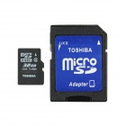 Toshiba MicroSDHC TF Memory Card w/ TF to SD Adapter - Black (32GB / Class 4)
