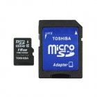 Toshiba MicroSDHC TF Memory Card w/ TF to SD Adapter - Black (16GB / Class 4)