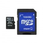 Toshiba MicroSDHC / TF Memory Card w/ TF to SD Adapter - Black (8GB / Class 4)