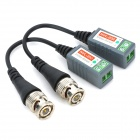 UTP Single Channel Passive Video Balun - Grey + Silver + Black (2 PCS)