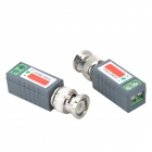 Single Channel Passive Video Balun - Grey + Silver (2 PCS)