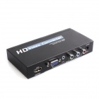 ZHQ-01 VGA to HDMI AV Sync Output HD Converter - Black