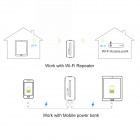 MOCREO 5-in-1 Portable WiFi 802.11b/g/n Wireless USB 3G Hotspot Router w/ 5200mAh Power Bank - White