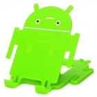 "Android Style Desktop Adjustable Holder Stand for 4~7"" Cellphones / Tablets - Green"