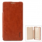 Protecive PU Leather Flip Open Case for Sony M36h - Brown