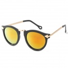 OREKA Fashion UV400 Protection PC Lens Sunglasses - Golden + Black