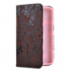 Rose Style Protective PU Case with Stand for Samsung Tab3.0 P3200 - Brown