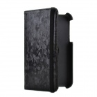 360 Degree Rotation Protective PU Leather Case Cover Stand for Samsung Galaxy Tab 3 P3200 - Black