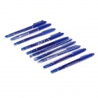 ZHMA MO-1120-MC-BL Dual Heads Oil Pen - Blue (10 PCS)