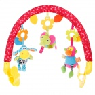 Lokyee 7032 Walking Animal Game-Frame for Baby Hammock - Red + Yellow + Green + Blue + Orange