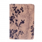 Rose Pattern Protective PU Leather Case Cover w/ Holder Stand for Ipad MINI - Khaki + Black