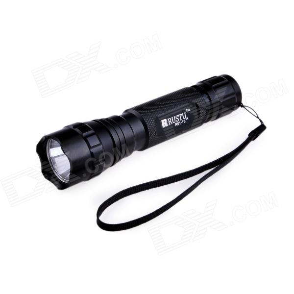 RUSTU R01-T6 5-Mode 700lm Cool White Flashlight w/ Cree XM-L T6 - Black (1 x 18650)