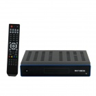 High Definition HD 1080p DVB-S2 Digital Satellite Receiver / Media Player - Black + Grey