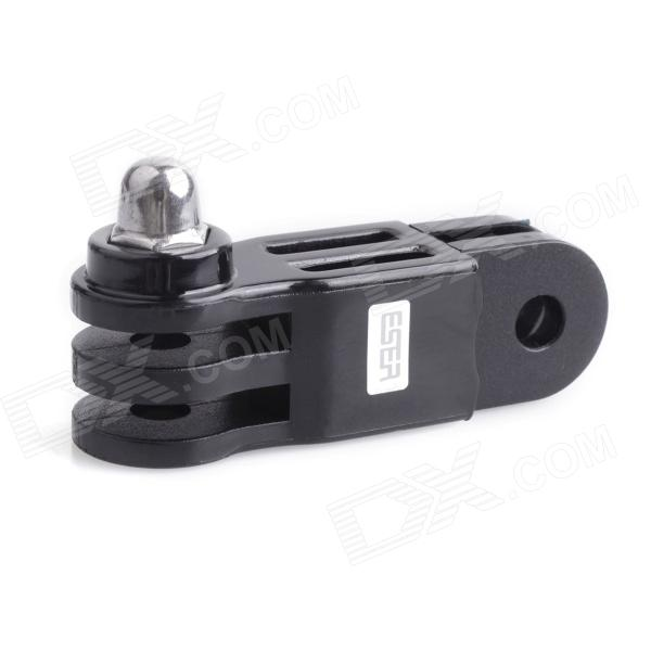 ESER-032 Sports Camera Long Connection Chain Accessory for GOPRO Hero 4/3 / 3+ Camera - Black + Silver retro heart letter k bracelet for women