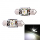 Festoon 31mm 5W 250lm 1 x Cree XR-E Q5 White Light Car Auto Reading Lamp - (12V / 2 PCS)