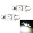 Festoon 36mm 5W 250lm LED White Light Car Auto Reading Lamp w/ 1 x Cree XR-E Q5 - (12V / 2 PCS)