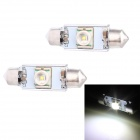 Festoon 39mm 5W 250lm LED White Light Car Auto Reading Lamp w/ 1 x Cree XR-E Q5 - (12V / 2 PCS)