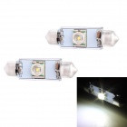 Festoon 42mm 5W 250lm LED White Light Car Auto Reading Lamp w/ 1 x Cree XR-E Q5 - (12V / 2 PCS)