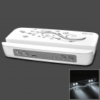 Aodasen ADS-210 5V 16000mAh Li-ion Polymer Battery Power Bank w/ Stand for iPhone + More - White