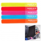 Maiwo CT-01 Cable / Wire Organizing Magic Tape / Velcro Band - Multicolored (5 PCS)