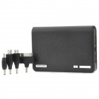 Portable Dual-USB 12000mAh Power Bank w/ Adapters for iPhone 4 / 4S / Samsung / Nokia - Black