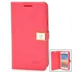 HELLO DEERE Protective PU Leather Case w/ Strap for Samsung i9100 / i9188 / i9108 - Deep Pink