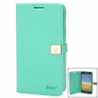 HELLO DEERE Protective PU Leather Case w/ Strap for Samsung i9220 / N7100 - Green