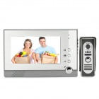 "805M11 7"" LCD Video Door Phone Intercom Security w/ Night Vision Camera - Silver + Grey"