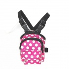 Pet Outdoor Oxford Cloth Backpack for Dog / Cat - Pink + White + Black