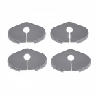 BK01 Protective ABS Car Door Lock Covers for Cruze / Roewe 950 / Buick encore + More - Black (4 PCS)