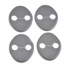 Protective ABS Car Door Lock Covers for IX35 / Veloster / Veracruz + More - Black (4 PCS)