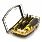 21068 30-in-1 Multifunction Screwdriver Kit Tool Set for Iphone + Ipad + More - Black + Yellow