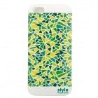 Fashion Geometry Pattern Ultra Thin Back Cover for Iphone 5 - Green + White